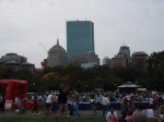 back bay skyline, from the boston common
