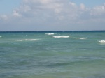 the ocean from our resort's beach, and it was warm!