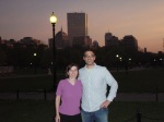 Me and the Gibtown Runner - Boston's Back Bay in the background